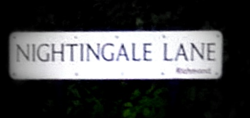 Nightingale lane sign